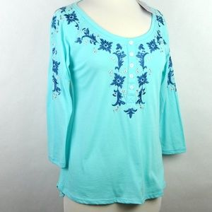 NWT Panhandle Slim Embroidered T-Shirt Blue Medium